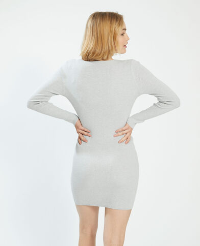 Robe pull côtelée gris - Pimkie