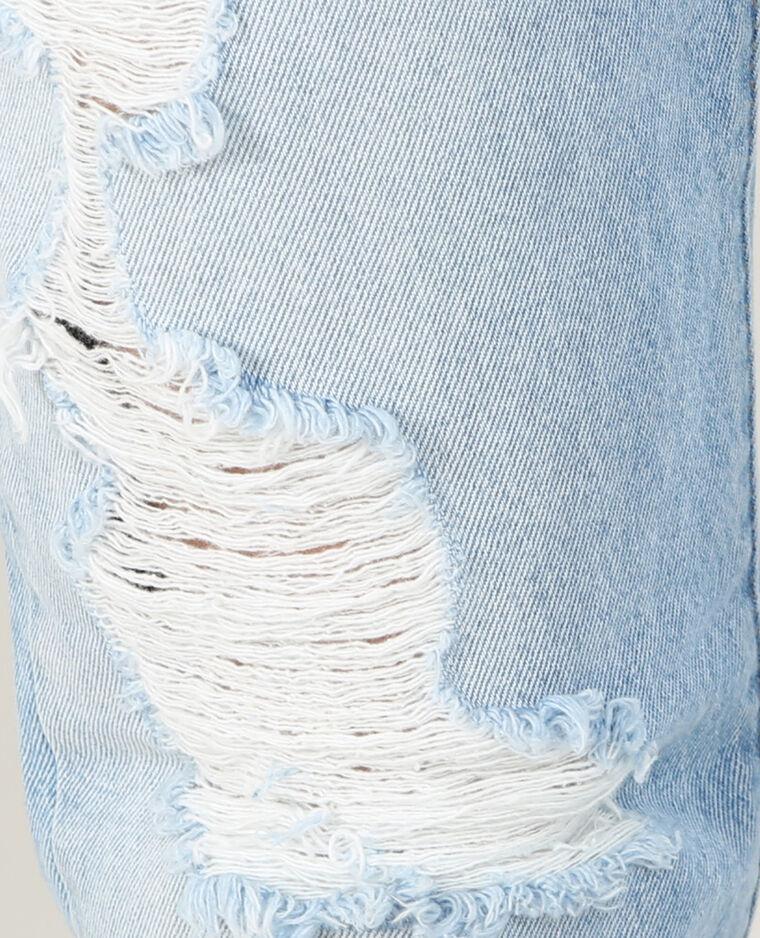 Jean Mom destroy bleu délavé