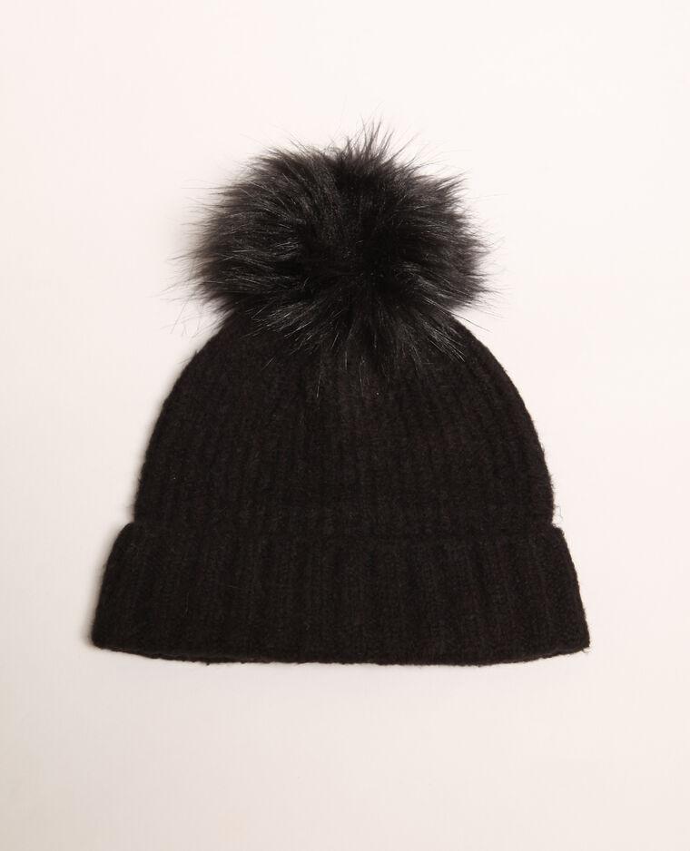 Bonnet à pompon noir