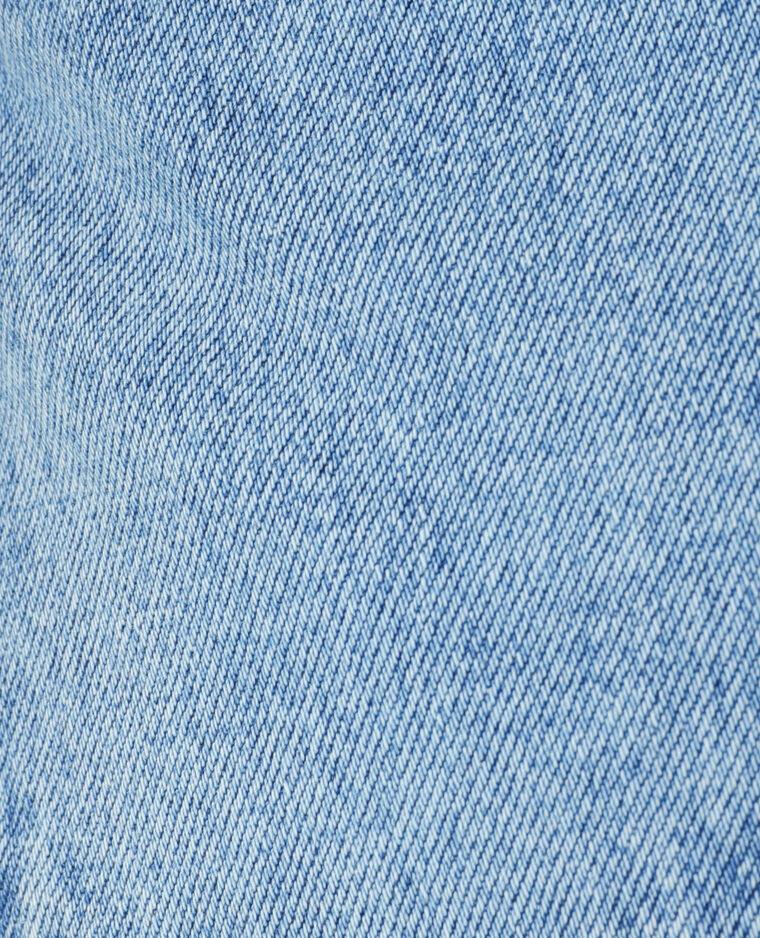 Jupe en jean destroy bleu denim - Pimkie