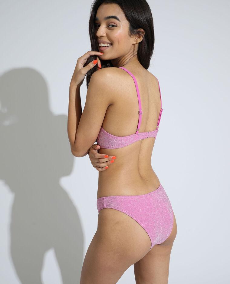 Haut de maillot de bain corbeille pailleté rose - Pimkie