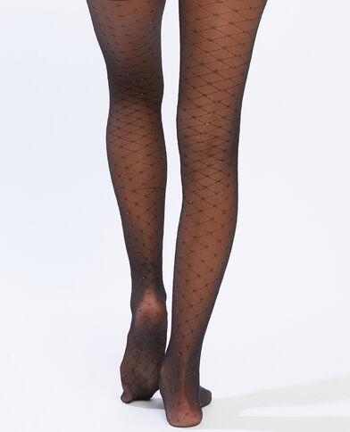Collants croisillons noir - Pimkie