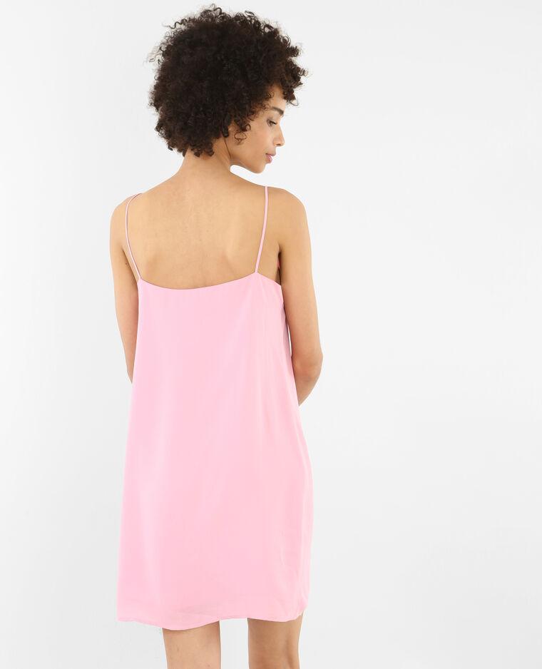 Robe croisée rose