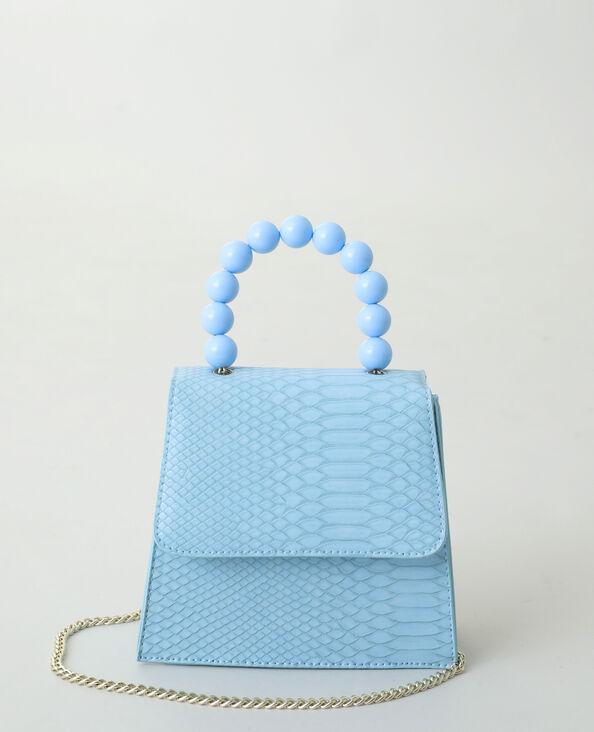Sac à main perle bleu