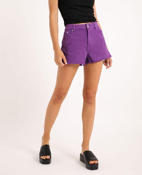 Short en jean destroy violet