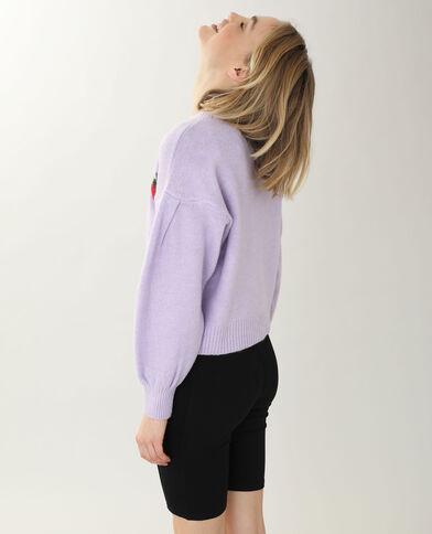 Pull à motifs violet