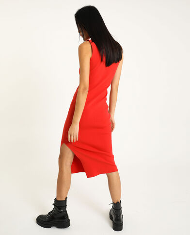 Robe moulante rouge