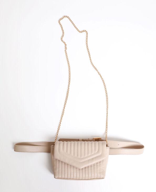 Sac-ceinture matelassé beige
