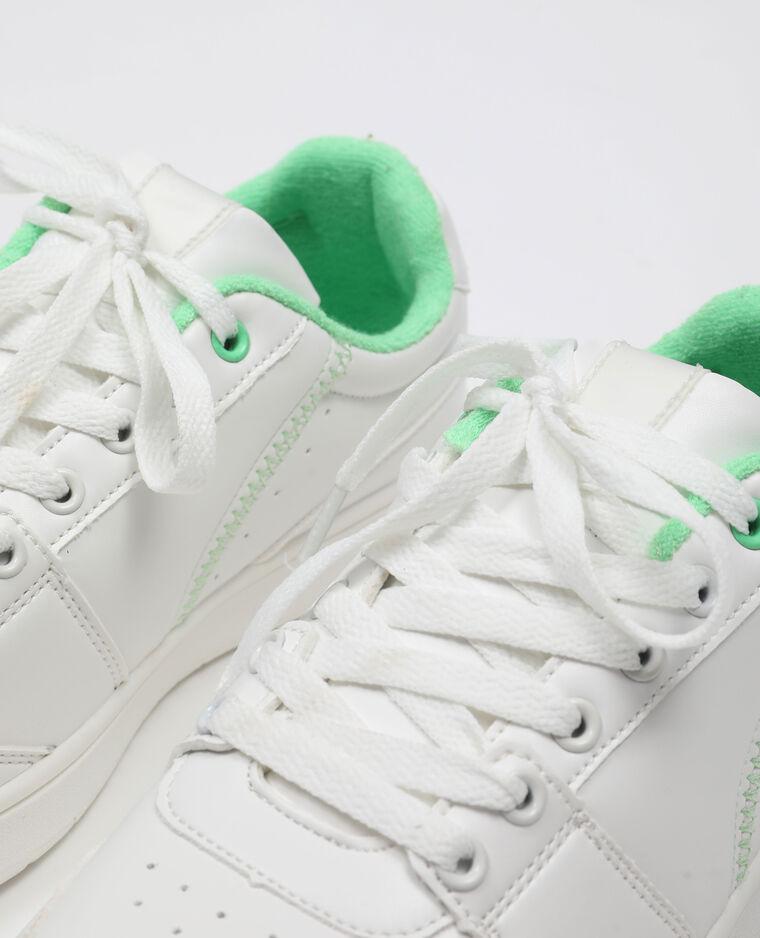 Baskets à lacets blanc - Pimkie