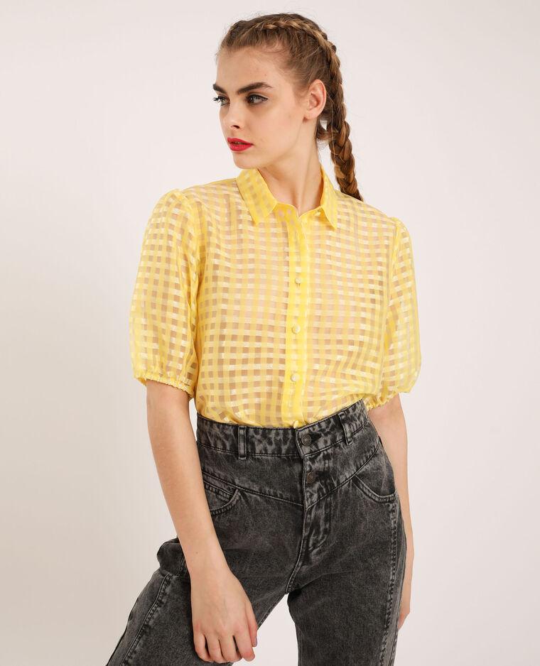 Chemise manches bouffantes jaune