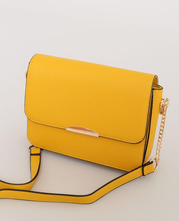 Petit sac boxy jaune - Pimkie