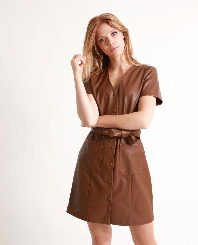 vente chaude france pas cher vente en ligne à la vente Robe en simili cuir