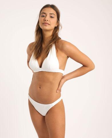 Haut de bikini triangle blanc