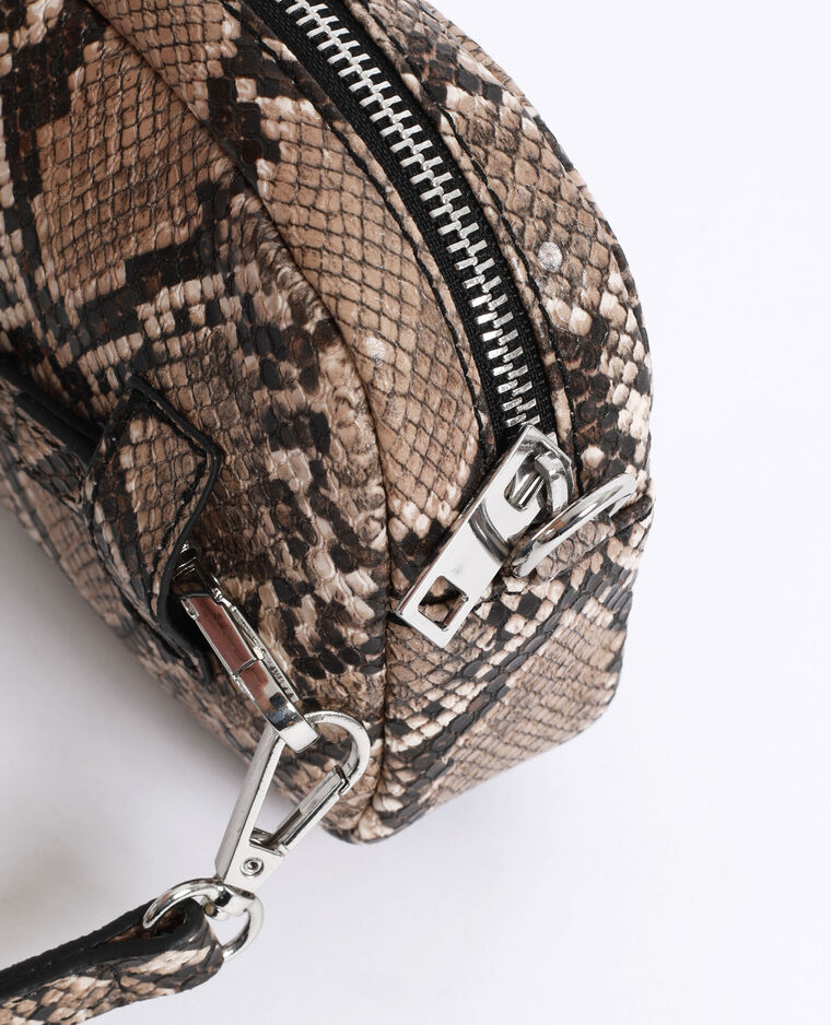 Pochette python beige ficelle