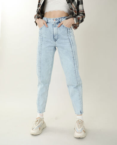 Jean mom high waist bleu clair