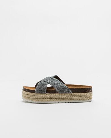 Sandales à plateforme bronze