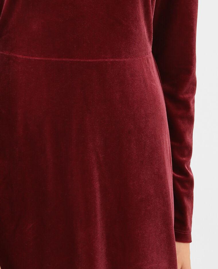 Robe velours grenat