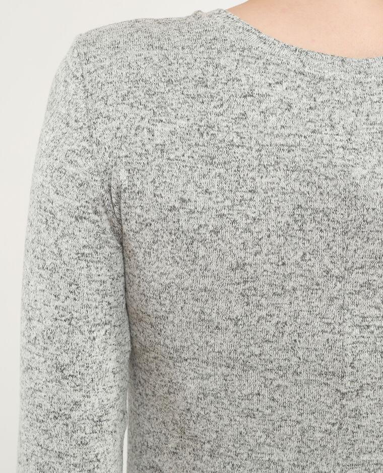 Robe pull longue gris chiné