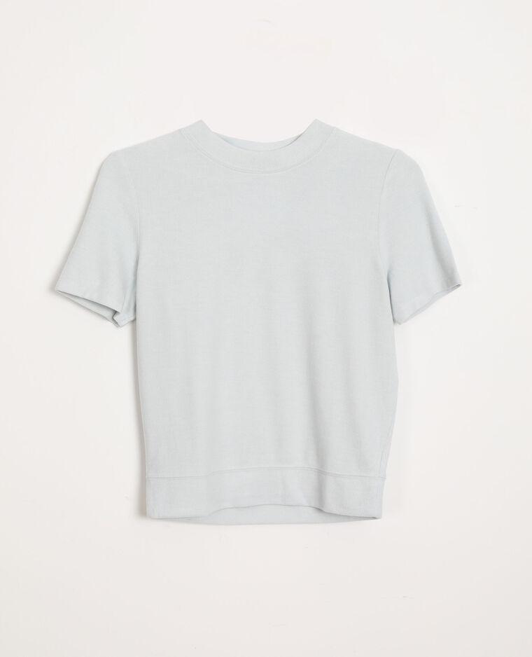 T-shirt doux bleu ciel