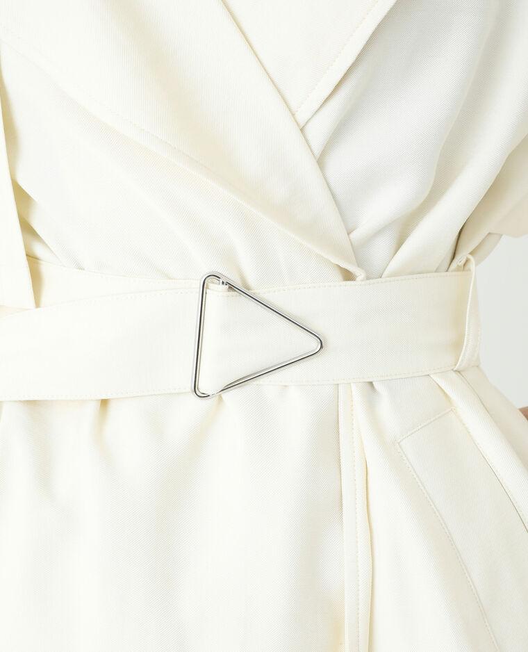 Trench long blanc cassé - Pimkie