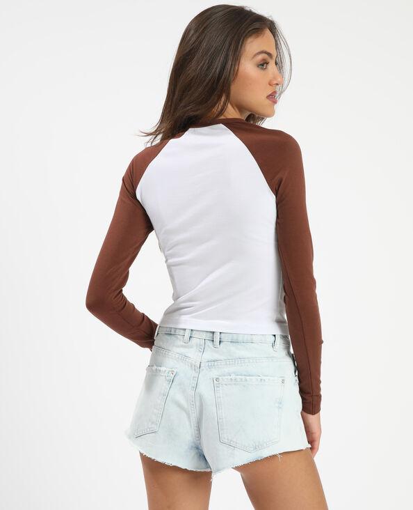 T-shirt manches raglan marron - Pimkie