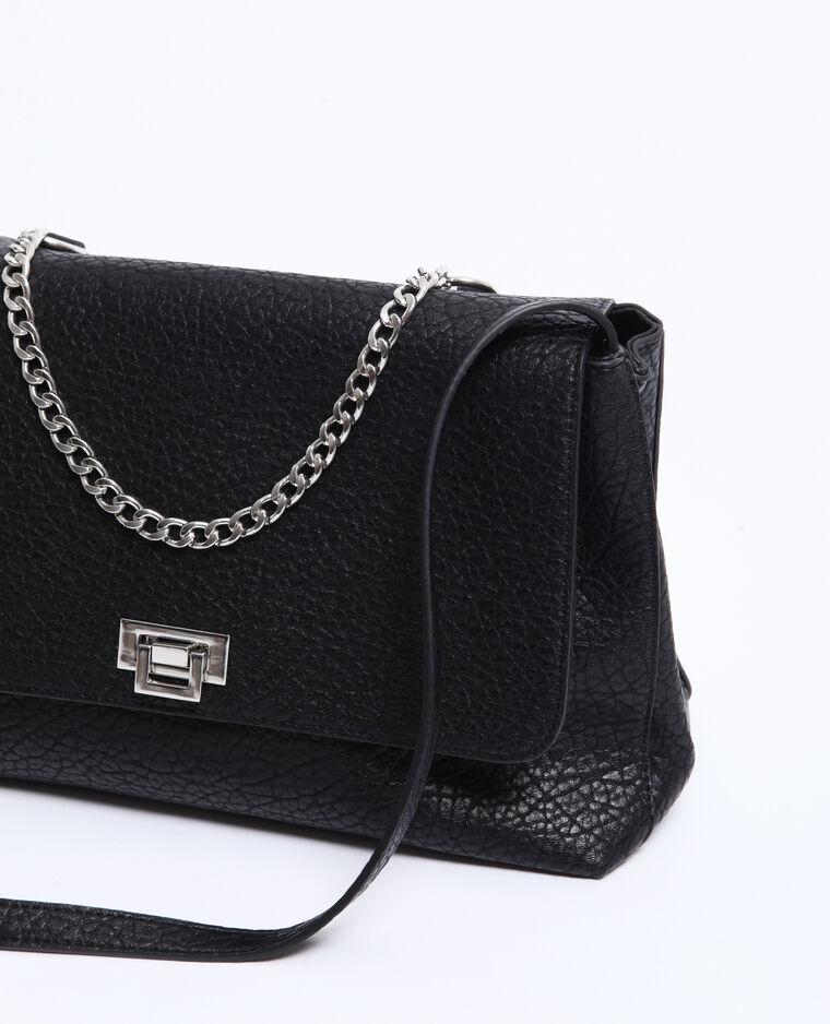 Grand sac en simili cuir noir