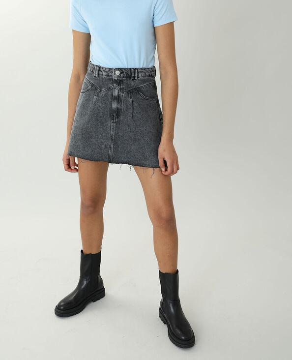 Jupe en jean gris usé