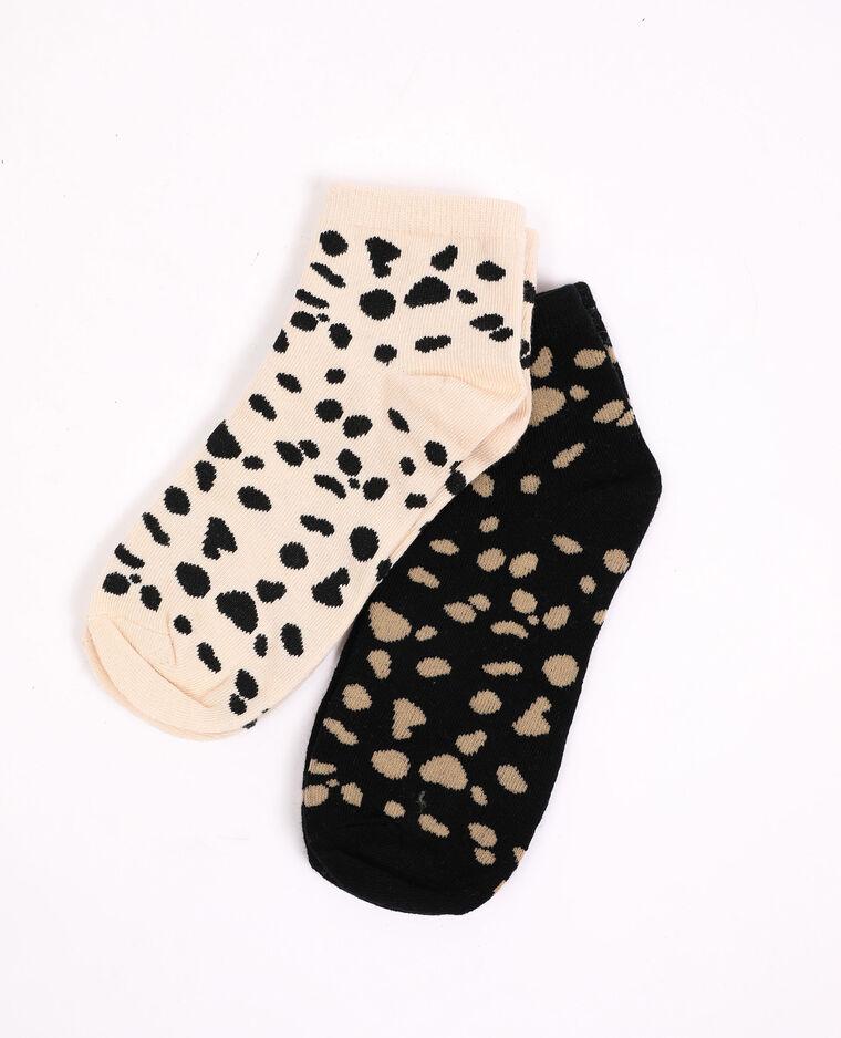 Lot de 2 paires de chaussettes beige - Pimkie