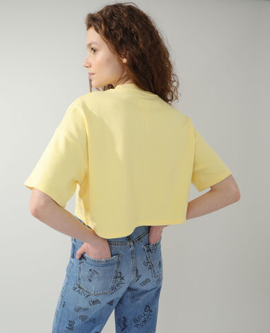 Sweat cropped jaune - Pimkie