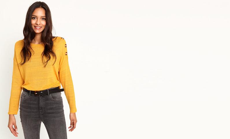 T-shirt à manches longues jaune