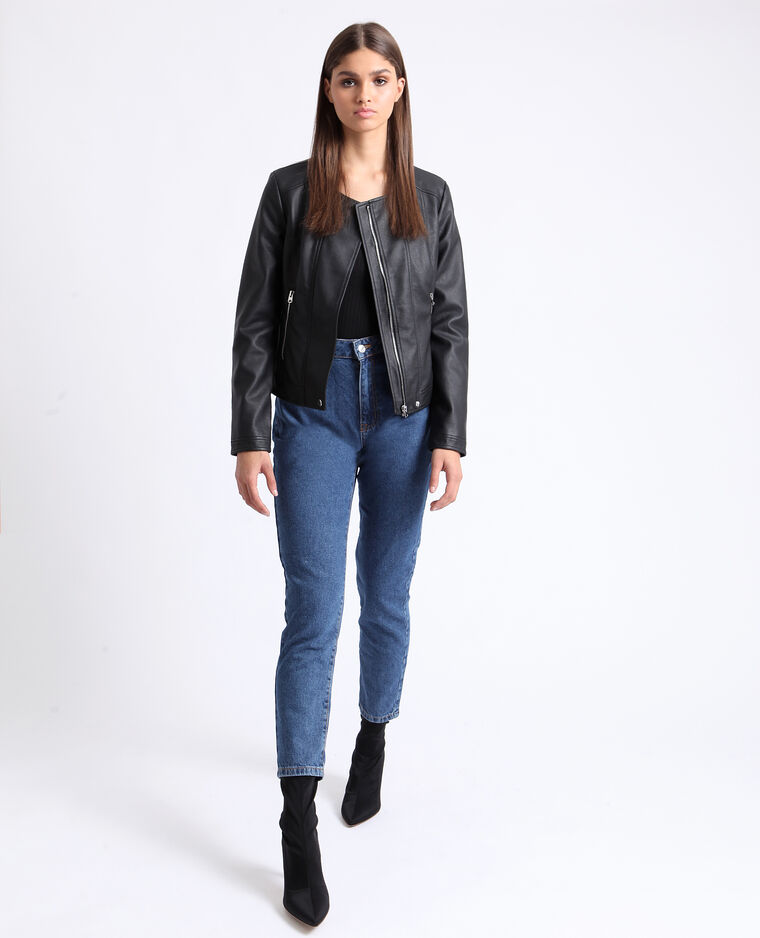 Jean taille haute bleu brut - Pimkie