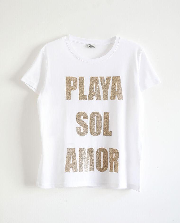 T-shirt imprimé écru