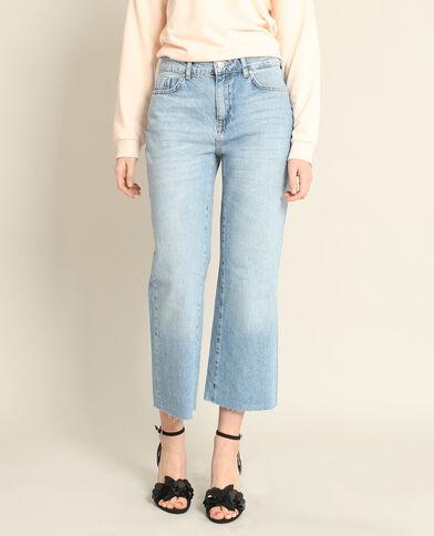 Jupe culotte en jean bleu