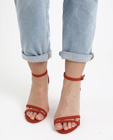Sandales à talons aiguilles rouille - Pimkie