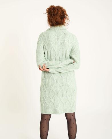 Robe pull torsadé vert