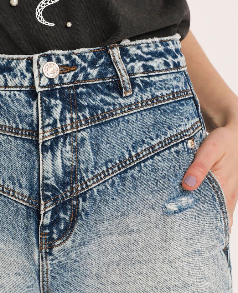Short en jean raw cut bleu délavé - Pimkie