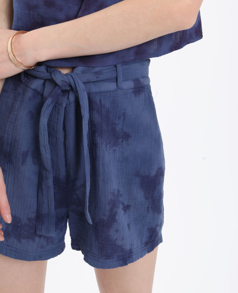 Short tie & dye bleu marine