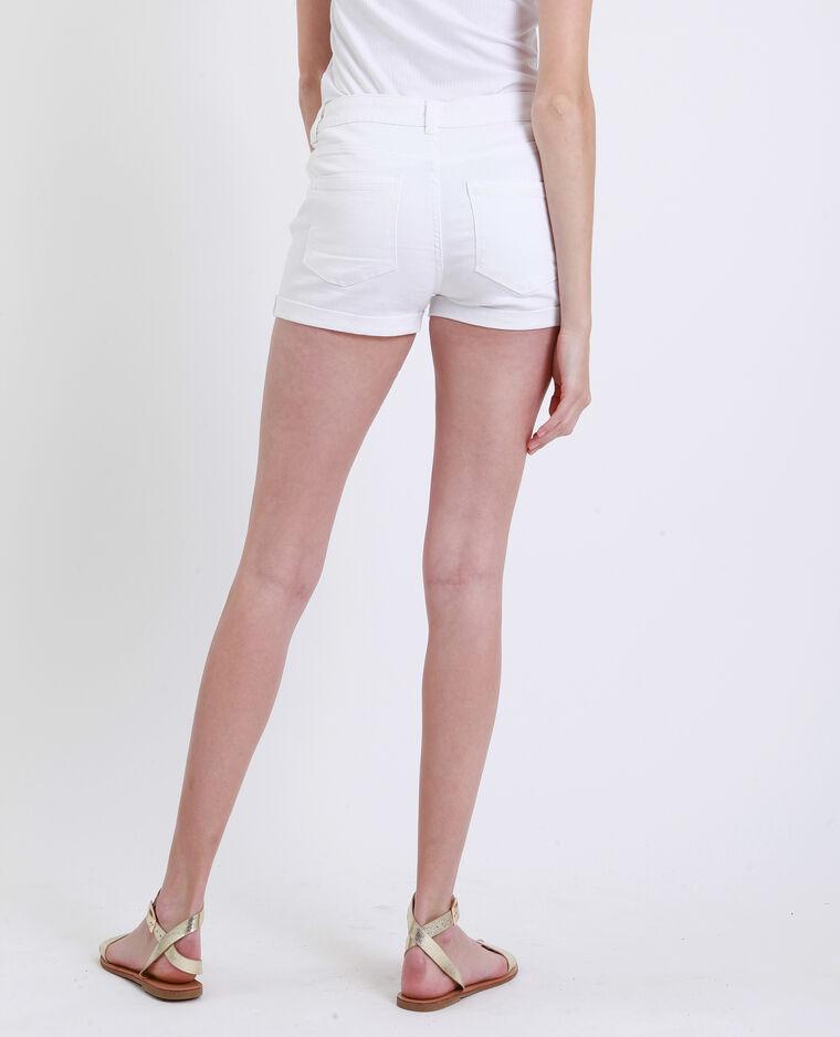 Short en jean blanc
