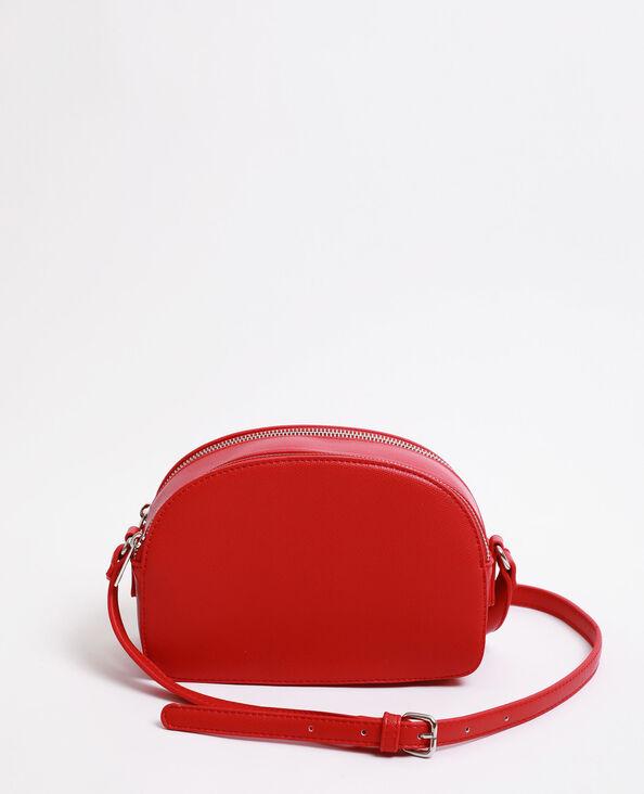 Petit sac double zip rouge