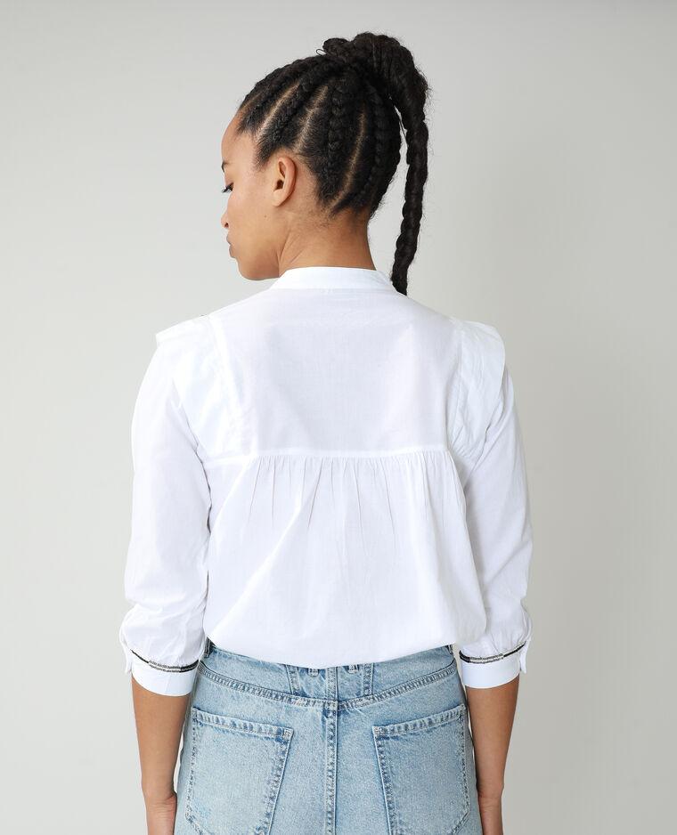 Chemise à perles blanc - Pimkie
