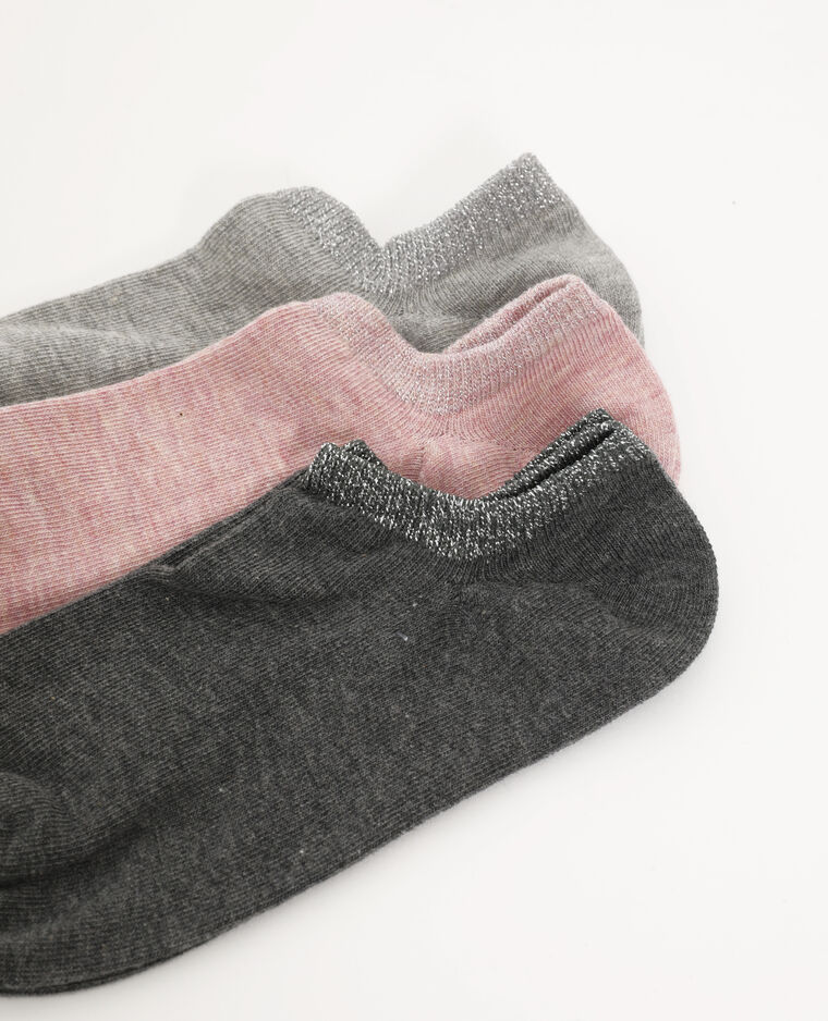 Lot de 3 paires de chaussettes basses rose - Pimkie