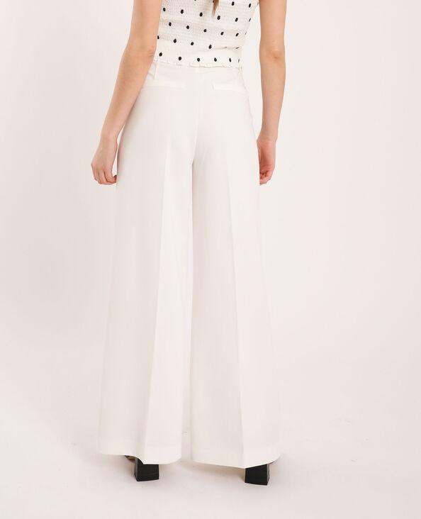 Pantalon à jambes larges blanc