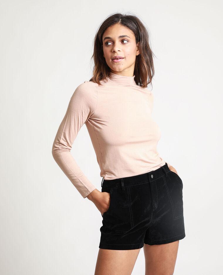T-shirt à col montant beige - Pimkie