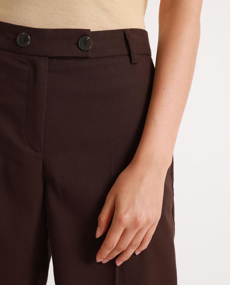 Pantalon large chocolat - Pimkie
