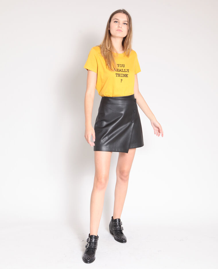 T-shirt imprimé jaune
