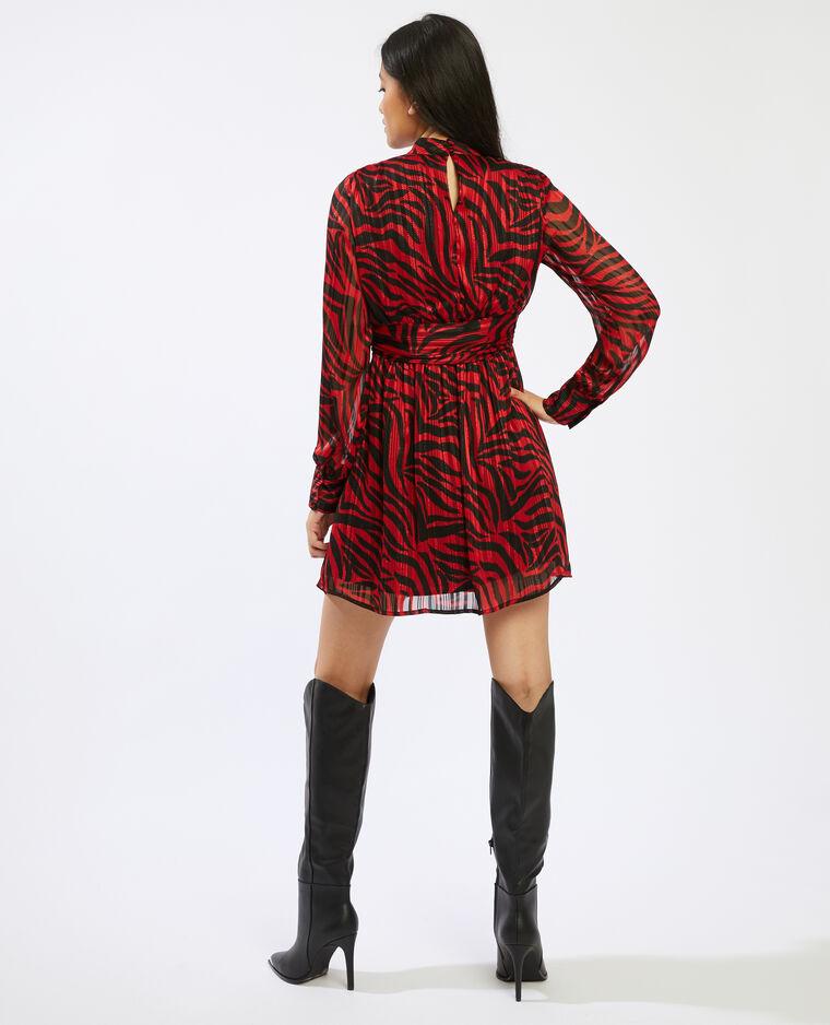 Robe motif zébré noir - Pimkie