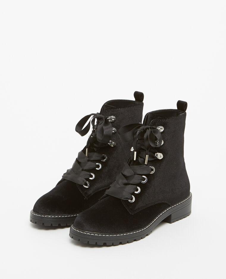 Boots rangers velours noir