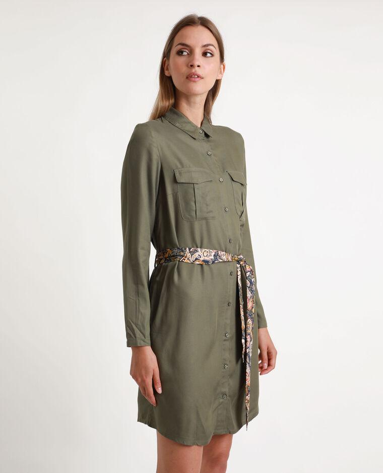 Robe-chemise fluide vert