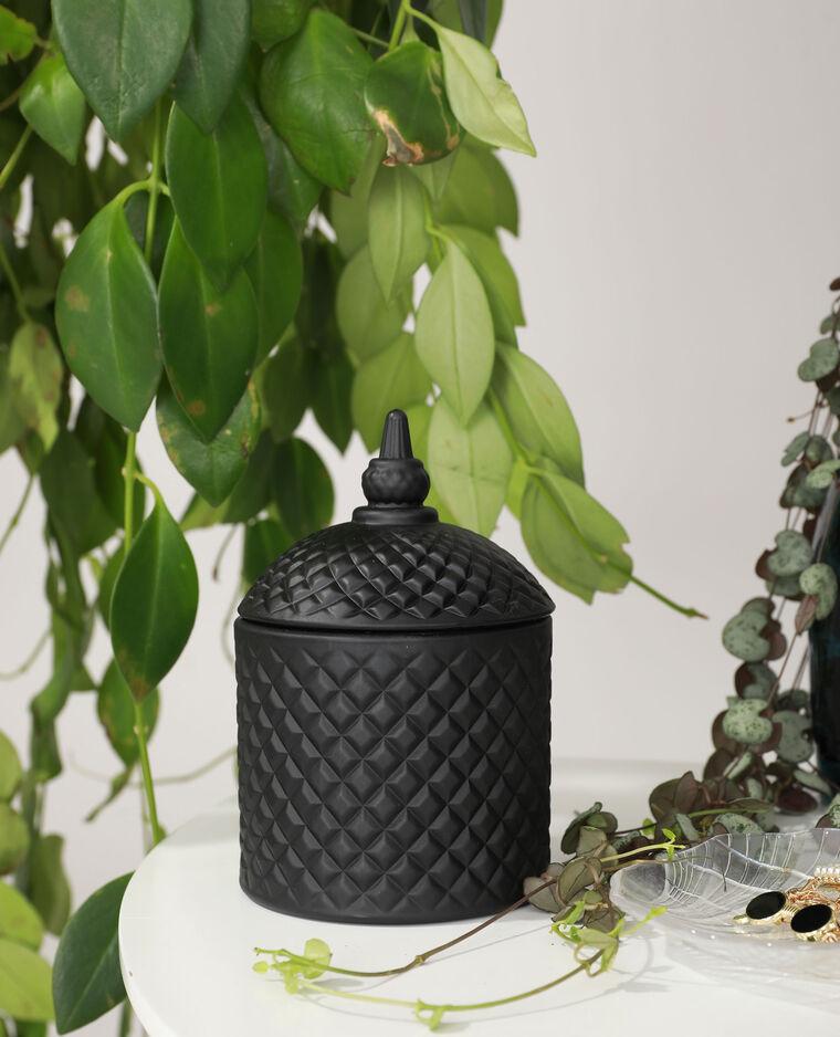 Bougie baroque avec verre teinté noir - Pimkie