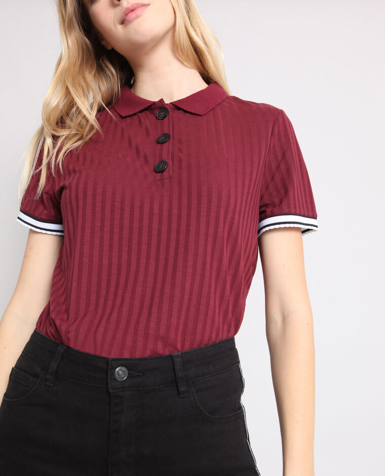 T-shirt polo bordeaux